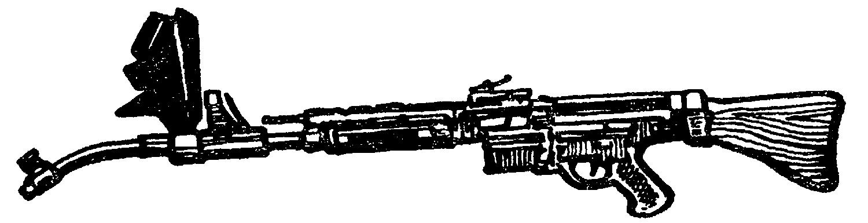 Автомат МР–44 с криволинейной насадкой и призменным прицелом