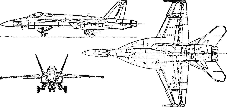 Схема самолета F/A–18EF