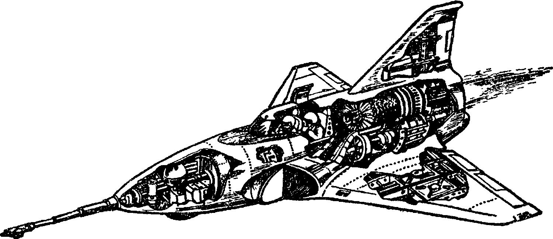 Схема самолета–подлодки конструкции Д. Рэйда