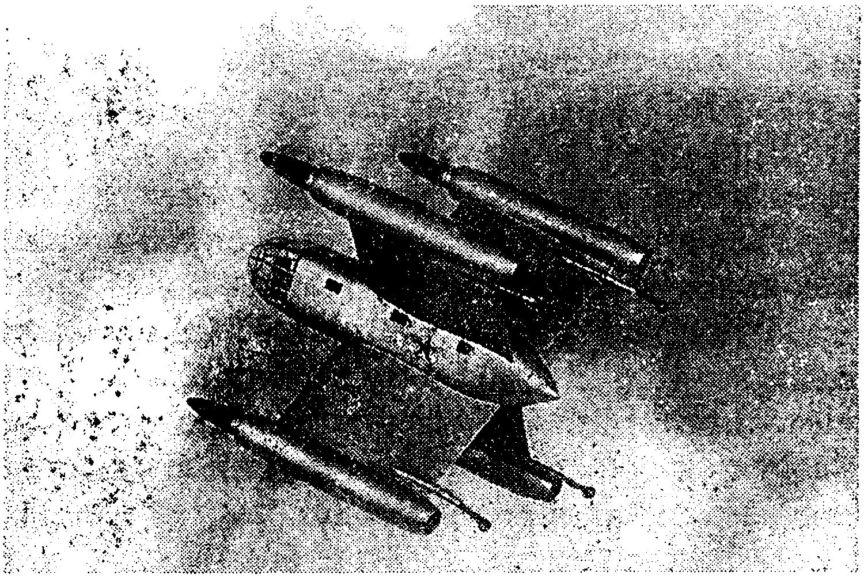 Модель десантно–транспортного СВВП с Х–образным крылом (Россия)