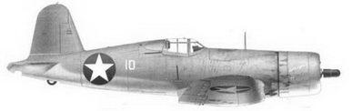 37. Истребитель F4U-1 «белый 10» «GUS'S GOPHER» 1-го лейтенанта Уильбура Дж. Томаса, эскадрилья VMF-213, Гуадалканал, июль 1943г.