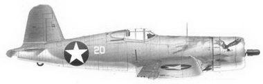 39. Истребитель F4U-1 «белый 20» 1-го лейтенанта Фон Р. Гарисона, эскадрилья VMF-213, Гуадалканал, июль 1943г.