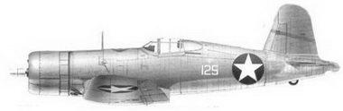 40. Истребитель F4U-1 «белый 125» Bu№02487 2-го лейтенанта Дональда Л. Бэл-ча, эскадрилья VMF-22I, Гуадалканал, июль 1943г.