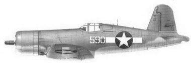 41. Истребитель F4U-1 «белый 590л Bu№17590 кэптена Артура Р. Конэнта, эскадрилья VMF-215, Баракома/Торокина, январь 1944г.