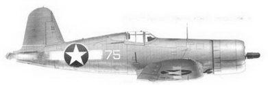 43. Истребитель F4U-1 «белый 75» майора Роберта Г. Оуинса, эскадрилья VMF-215, Мунда, август 1943г.