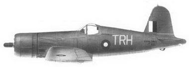 45.Истребитель «Корсар II» «белый TRH/JT427» майора Рональд С. Хэй, 47-е авиакрыло Fleet Air Arm, авианосец «Викториес», январь 1945г.