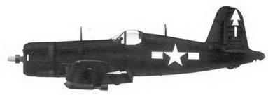 47.Истребитель F4U-1D «белая 1» майора Германа X. Хэнсена, эскадрилья VMF-112, авианосец «Беннингтон», февраль 1945г.
