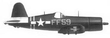 51. Истребитель F4U-1D «желтый FF-59» командира эскадрильи VMF-351 Дональда К. Ёста, авианосец «Кэйа Глочестер», июль 1945г.