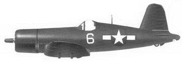 52. Истребитель F4U-1D «белый 6» лейтенанта Джо Д. Роббинса, эскадрилья VF-85, авианосец «Шангри-Ла», декабрь 1945г.