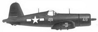 55. Истребитель F4U-1D «белая 8» Bu№57413 1-го лейтенанта Джека Броиринга, эскадрилья VMF-323, Эспериту-Санто, октябрь 1944г.— март 1945г..