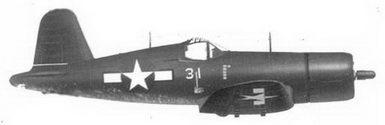 56. Истребитель F4U-1D «белый 31» 1-го лейтенанта Фрэнсиса А. Террилла, эскадрилья VMF-323, Окинава, май 1945г.