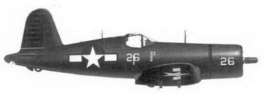 57. Истребитель F4U-1D «белый 26» 1-го лейтенанта Джеримайи Дж. О'Кифи, эскадрилья VMF-323, Окинава, май 1945г.