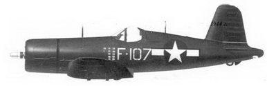 60.Истребитель F4U-1D «белый F-107» 1-го лейтенанта Филиппа С.Делонга, эскадрилья VMF-913, авиабаза Черри-Пойнт, Северная Каролина, 1944г.