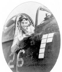 1-й лейтенант Джеремая Дж. О'Кифи, на борту истребителя F4U-1D с бортовым номером «26» видны отметки о семи его победах в воздушных боях. 22 апреля 1945г. в 20-минутном бою летчики эскадрильи VMF-323 записали на счет подразделения 24,75 побед. О'Кифи в том бою сбил пять бомбардировщиков «Вэл».