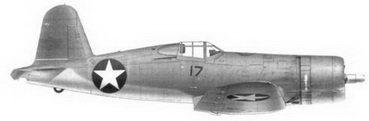 1.Истребитель F4U-1 «черный 17» 1-го лейтенанта Ховарда Дж. Финна, эскадрилья VMF-124, Гуадалканал, февраль 1943г.