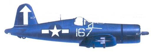 F4U-1D Роджеру Р. Хедрайка, авианосец «Банкер Хилл», февраль 1945г.
