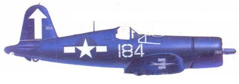 F4U-1D Уиллиса Г. Лэни, авианосец «Банкер Хилл», февраль 1945г.