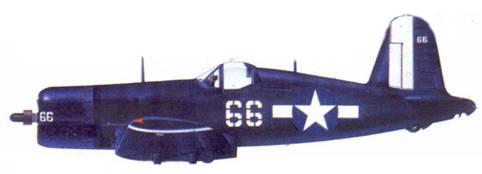 F4U-1D Альфреда Лерча, авианосец «Интрепид», апрель 1945г.