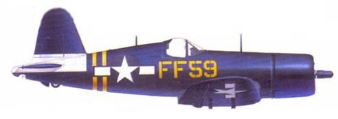 F4U-1D Дональда К. Ёста, авианосец «Кэйа Глочестер», июль 1945