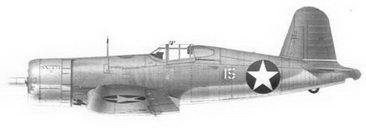 6. Истребитель F4U-1 «белый 15» «DAPHNE С» Bu№03829 кэптена Джеймса Н. Каппа, эскадрилья VMF-213, Мунда, сентябрь 1943г.