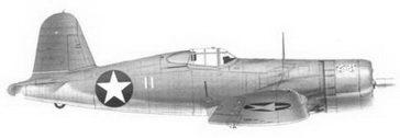 7. Истребитель F4U-1 «белый 11» «Defabe» 1-го лейтенанта Джорджа С. Дифабио, эскадрилья VMF-213, Гуадалканал, июль 1943г.