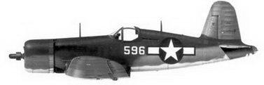 8. Истребитель F4U-1A «белый 696» Bu№17596 1-го лейтенанта Роберта М. Хэнсона, эскадрилья VMF-215, Торокина, февраль 1944г.