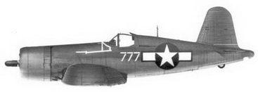 9. Истребитель F4U-1A «белый 777» Bu№17777 1-го лейтенанта Филиппа С. Де-лонга, эскадрилья VMF-212, Велла-Лавелла, ноябрь 1943г.