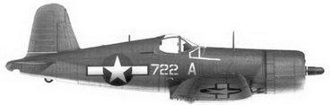 10.Истребитель F4U-1А «белый 722 А» Bu№17722 1-го лейтенанта Филиппа С. Делонга, эскадрилья VMF-212, Велла-Лавелла, ноябрь 1943г.