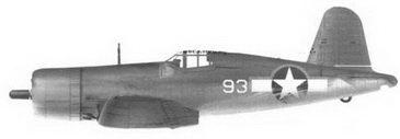 12. Истребитель F4U-1A «белый 93» Bu№17430 кэптена Эдвина Л. Олэндера, эскадрилья VMF-214, Веелла-Лавелла/Торокина, январь 1943г.