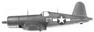 16. Истребитель FG-1A «белый 271» Bu№13271 майора Джулиуса У. Ирлэнда, эскадрилья VMF-211, Бугенвиллъ, январь 194г.