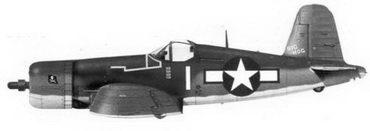 18. Истребитель F4U-1A «белая 1» «BIG HOG» Bu№17649 командира эскадрильи VF-17 лейтенант-коммендера Джона Т. Блэкбарна, Ондонга, ноябрь 1943г.