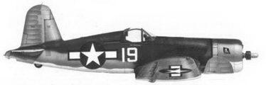 19. Истребитель F4U-1A «белый 19» лейтенанта Пола Кордрэя, эскадрилья VF-17, Ондонга, ноябрь 1943г.
