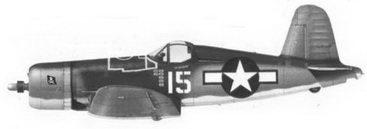 20. Истребитель F4U-1A «белый 15» лейтенанта Дэниэла Г. Каннигхэма, эскадрилья VF-17, Ондонга, ноябрь 1943г.