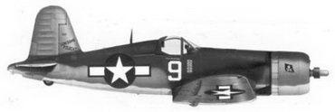 21. Истребитель F4U-1A «белый 9» «LONESOME POLECA Т» лейтенанта Мерла У. Дэвенпорта, эскадрилья VF-17, Ондонга, ноябрь 1943г.