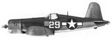 23. Истребитель F4U-1A «белый 29» лейтенанта Аиры С. Кинфорда. эскадрилья VF-17, Бугенвиллъ, январь 1944г.