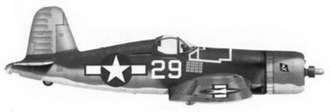 24. Истребитель F4U-1A «белый 29» лейтенанта Аиры С. Кинфорда, эскадрилья VF-17, Бугенвиллъ, февраль 1944г.