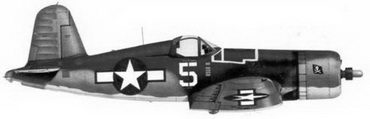 31.Истребитель F4U-1A «белая 5» Bu№17656 лейтенанта Томаса Кифлера, эскадрилья VF-17, Бугенвилль, февраль 1944г.