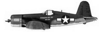 34. Истребитель F4U-1A «белый 108» майора Джорджа Л. Холоуэлла, эскадрилья VMF-111, Гуадалканал, ноябрь 1943г.