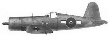 35.Истребитель F4U-1A «черный 77/ NZ5277», ВВС Новой Зеландии, Соломоновы острова, 1945г.