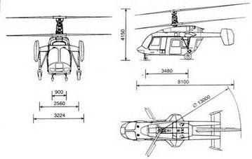 Схема вертолета Ка-226