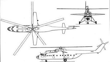 Схема вертолета Ми-6