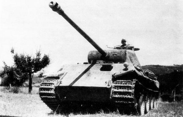 «Пантера» AusfD. Италия, 1944 год.