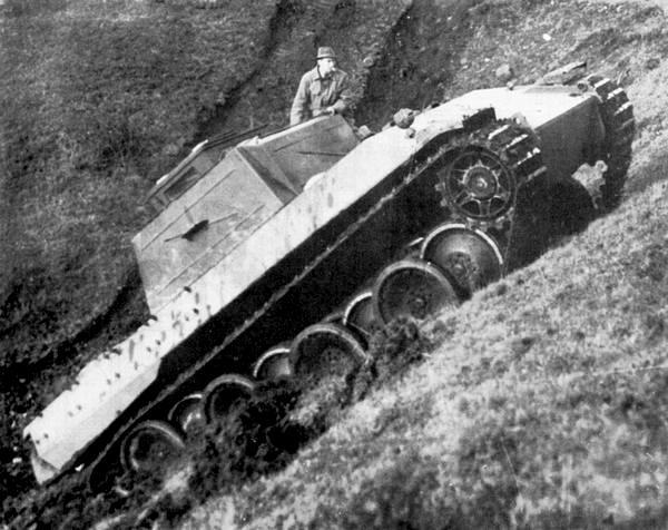 Демонстрация прототипа «Пантеры» на полигоне Бад Берка. 3 ноября 1942 года.