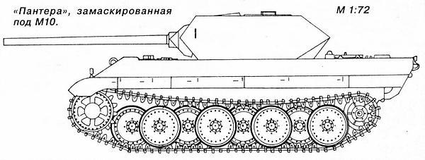 «Пантера», замаскированная под М10.