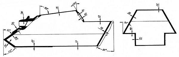 Схема бронирования самоходной установки «Ягдпантера».