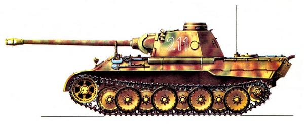 Panther AusfD. «Пантер-бригада СС» (SS Panther Brigade), Курск, июль 1943г.