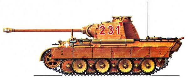 Panther AusfA. 2-я рота 1-го батальона 6-го танкового полка 3-й танковой дивизии (2/Pz.Abt.1, Pz.Rgt.6, 3.Panzer Divizion), январь 1944г.
