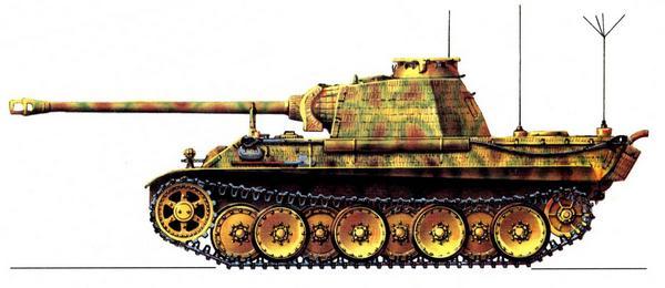 Panzerbefehlswagen Panther AusfG. 1-я танковая дивизия СС (1.SS Panzer Divizion) «Leibstandarte SS Adolf Hitler», Париж, май 1944г.