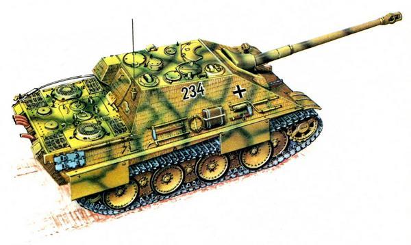 Jagdpanther. 2-я рота 654-го тяжёлого противотанкового дивизиона РГК (Schwere Heeres Panzerj?gerabteilung 654), Франция, июнь 1944г.