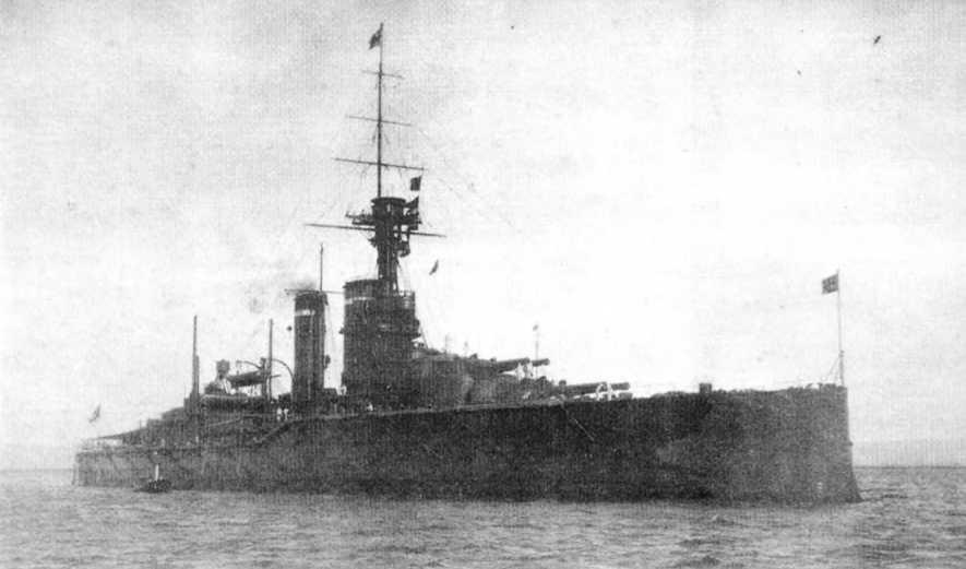 """""""Кинг Джордж V"""" в период перед первой мировой войной."""